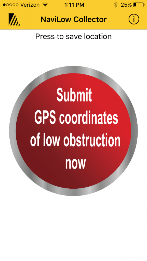 Clicking the red button will submit your GOS coordinates.